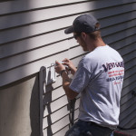 caulking the vent flap